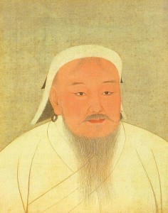 Ghengis Kahn:  figures estimate he killed up to 40 million. Public Domain photo: http://en.wikipedia.org/wiki/File:YuanEmperorAlbumGenghisPortrait.jpg