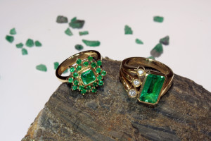 gold and emerald