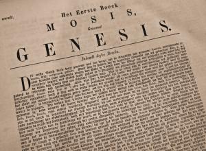 The Book of Genesis (photo by Adrian van Leen)